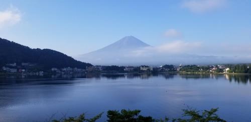 河口湖からの富士山②