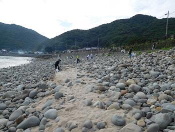海の日浜掃除