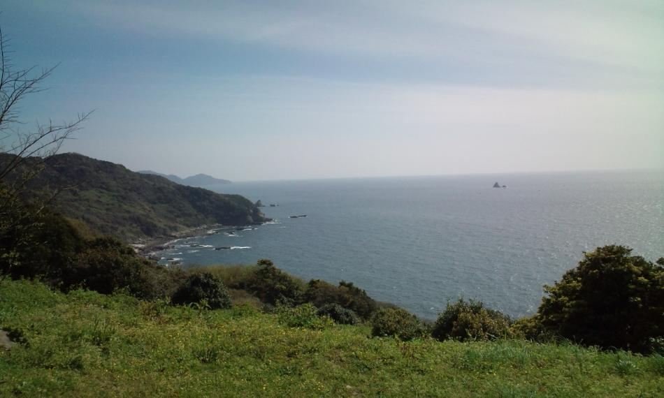 天草西海岸線と小ヶ瀬