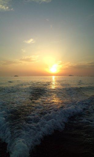 東シナ海の落陽